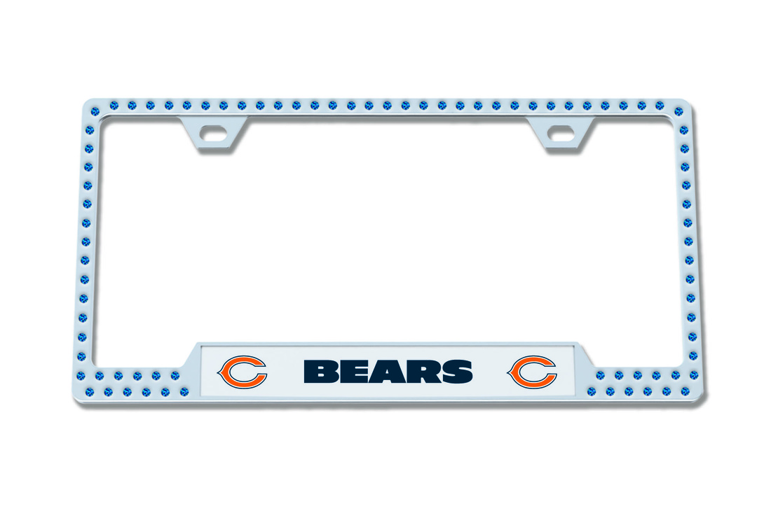 NFL LICENSE PLATE FRAMES BLING DESIGN